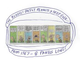 The biggest daily Peanuts comic strip ever by dth1971