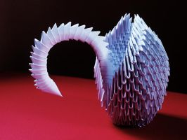Origami 3D swan by prosaix