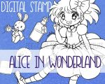 Alice in Wonderland ::Digital Stamp Pack:: by YamPuff