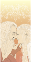 Gandriel - Mithrandir and his Lady by RedPassion