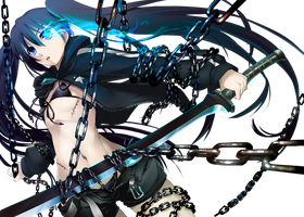 Black Rock Shooter [Render] by Miki-Chan321