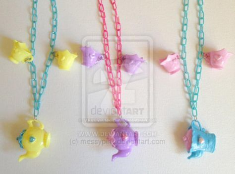 Tea Party Necklace by messypink