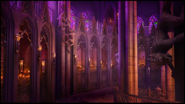 Gothic Crypt by Alanise