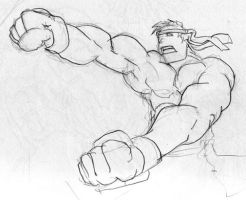 Double Punch Ryu by Big-Mex