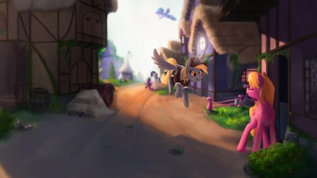 Morning in Ponyville by StarBlaze25