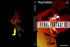 Final Fantasy VIII: Minimalist Boxart by CaptJapan