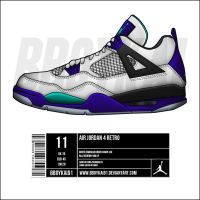 "Air Jordan 4 ""Grape"" by BBoyKai91"