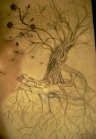 Hand Holding Tree by kristenhill