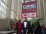 SO I DRAGGED PUNISHER TO C2E2 WITH ME by Darth-Slayer