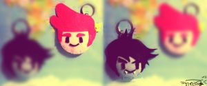 Marshall Lee and Prince Gumball keychains by mcazevedo