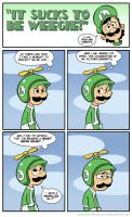 Sucks to be Luigi : Propeller by kevinbolk