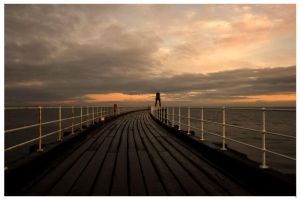Whitby Pier At Dawn by didjerama