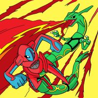 Rayquaza VS Deoxys by ajg1998