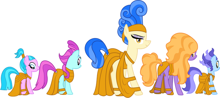 Sapphire Shores and dancers as the Muses by CloudyGlow
