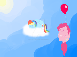Pudgy Ponies - Pinkie and Rainbow - 1 by InvaderBlitzwing