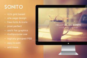 Sonito OnePage PSD Template by snkdesigns