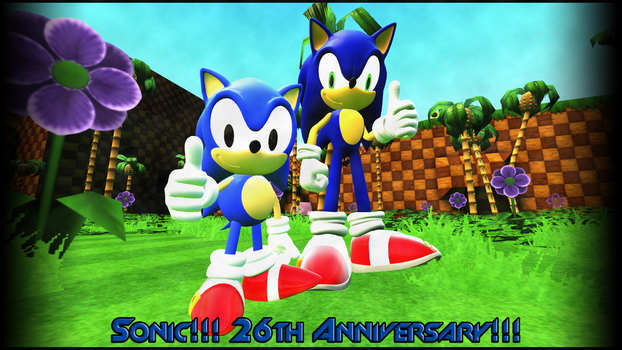 ..::Sonic 26th Anniversary::.. by XxArturoJuliboxX