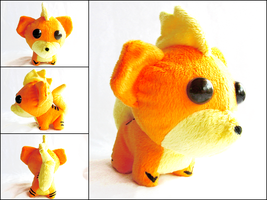 Growlithe Plush by CraftKiwi