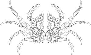 Scrollwork Crab Hand Engraving WIP by Shaun H. by shaun750