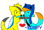 Kenny and Aaron [[art trade]] by K0MPY