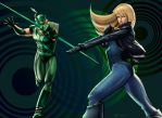 Green Arrow + Black Canary by SandsGonzaga