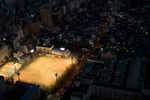 Baseball field at night by Nudelbutt
