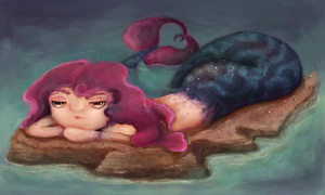 SS - Lounging Mermaid by Azrelae