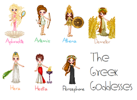The Greek Goddesses by MadieKristineC