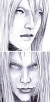 FFVII - Faces Details in Pen 2 by Washu-M