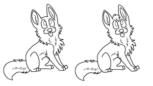 free puppies lineart by CaptainDashund