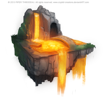 DAY 377. Lava Island by Cryptid-Creations