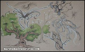Brown Sketchbook Pg 1 by Twitchy-Kitty-Studio