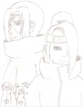 Itachi and Deidara by Scared-For-Life