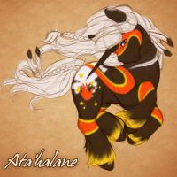 Ata'halane the Warrior by ClemiKinkajou