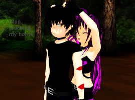 [MMD] He has horns XD by khftw