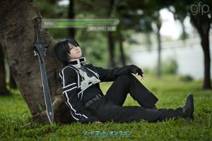 Sword Art Online Cosplay - Sleeping Kirito by gennyfurqiza