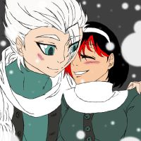 Toshiro and Hagane Art Trade by ThebSayraduka