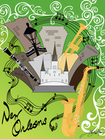 New Orleans Tourism Poster by RenMakimurs