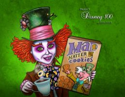 Mad Hatter Cookies by errantscarecrow