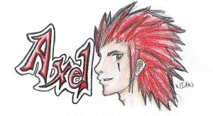 Axel sketch by witchiamwill