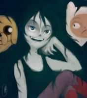 Marceline and the bros by Proxzee
