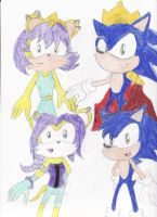Rq: Sonic and Mina family by BlueSpeedsFan92