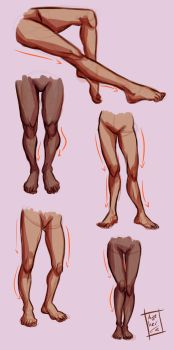 Legs study by Azeher