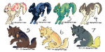Assorted Canine Designs Batch 11 (CLOSED) by ChamberedNoctilus