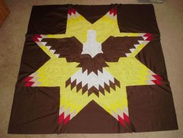 Lonestar Eagle Quilt 2 by supermutts
