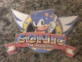 Sonic the Hedgehog 1 Button by Agentwolfman626