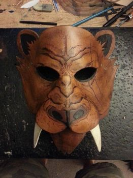 Sabertooth cat mask by theDOC30427
