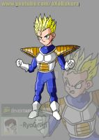 SSJ Kid Gohan (namek saga) V2 what if character by RyoGenji