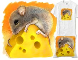 Little mouse on cheese by emmil