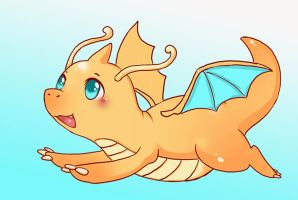 dragonite flying animation by michellescribbles
